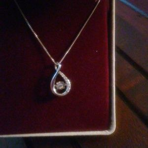 Jewelry - 4.5mm diamond 925 silver infinity pendant necklace